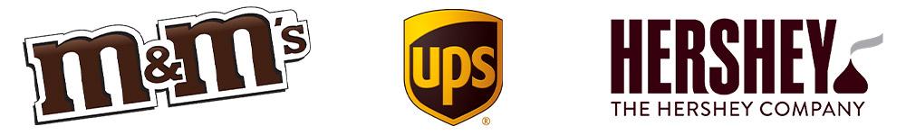 Bruine logo's - M&M's - ups - Hershey