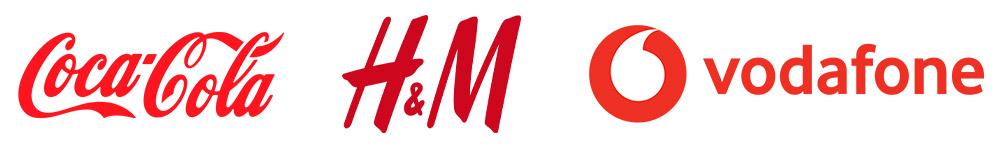 Rodo logo's - coca-cola - H&M - Vodafone