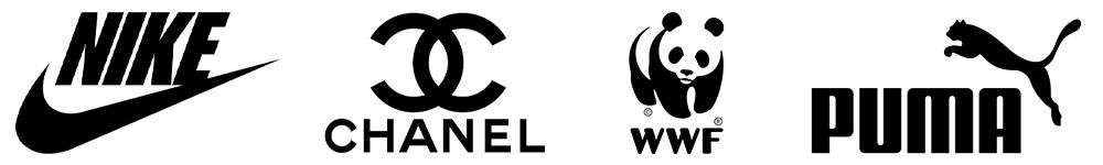 Zwarte logo's - Nike - Chanel - WWF - Puma